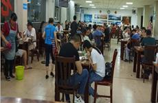 (已成交)市中心商圈民主路区展览馆旁520平餐饮铺面转让